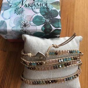 Nakamol sparkley beaded wrap around bracelet